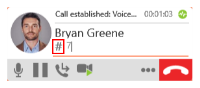 """The """"Show/Hide DTMF"""" button is on the call panel."""