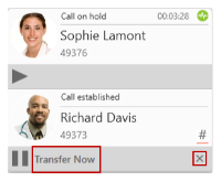Windows Transfer Now button on the transfer target