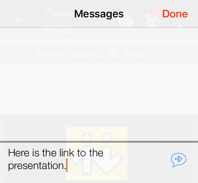 Messaging in a conference
