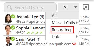 Recording a call