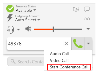 Creating a conference call