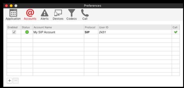 Configuring X-Lite – Accounts