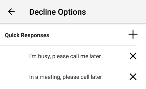 Handling an incoming call