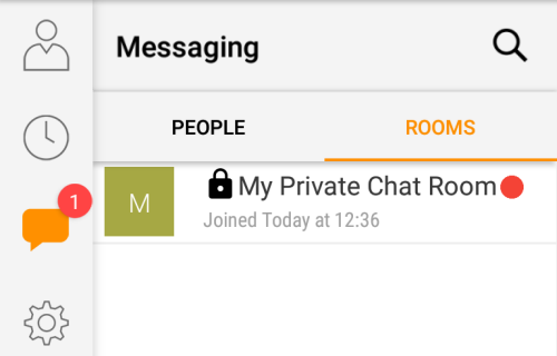 private chat room