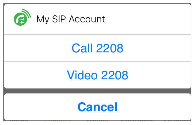 Changing SIP Accounts