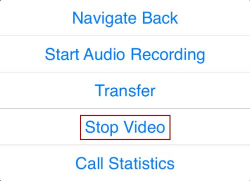 Handling a video call